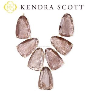 Kendra Scott Harlow Gold Necklace In Sable Mica